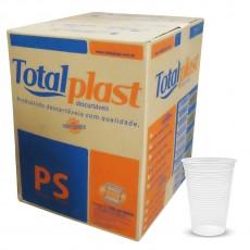 Copo Totalplast 180ml Transparente/ Branco C/100