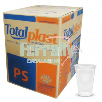 Copo Totalplast 180ml Transparente/ Branco