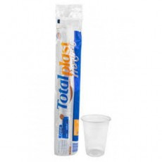 Copo Totalplast 300ml Transparente/ Branco
