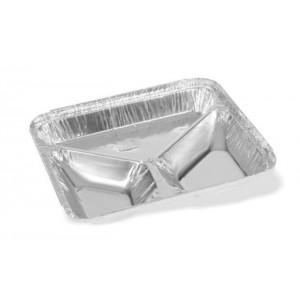 Bandeja Alumínio Wyda 3 Divisórias C/100