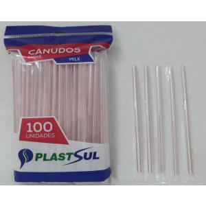 Canudo Plastsul 21cm x 8mm